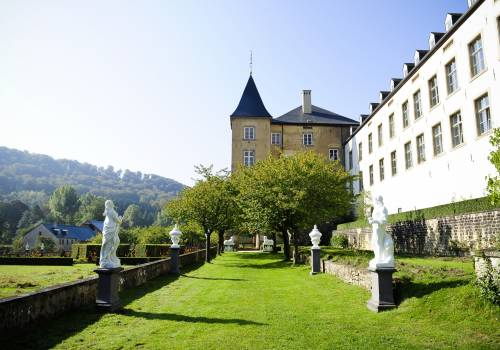 franse tuinen van het kasteel ansembourg