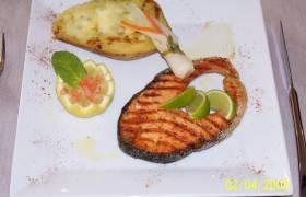 darne de saumon grille a l huile d olive