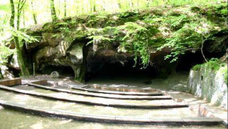 natural amphitheatre in the forest berdorf