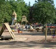 adventure playground in the park near the sauer lake rosport