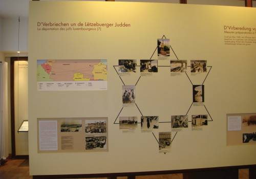 museum gedenkteken van de deportatie luxemburg stad binnen