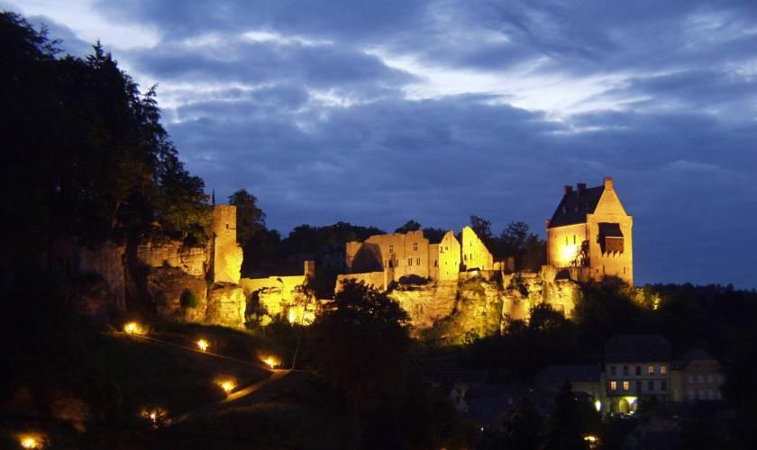 larochette castle by night marc siebenaler