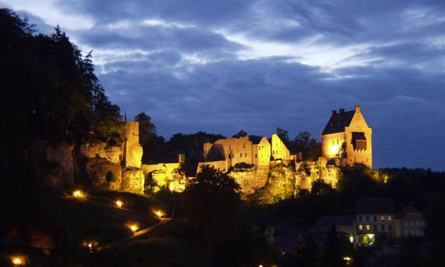larochette castle by night marc siebenaler
