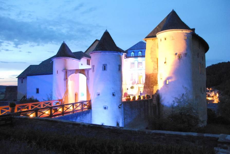 bourglinster castle by night selim schiltz