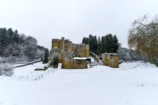 beaufort castle in winter