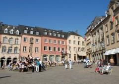 market square with denzelt echternach