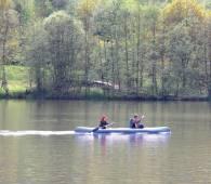 en canoe dans la vallee de la moselle