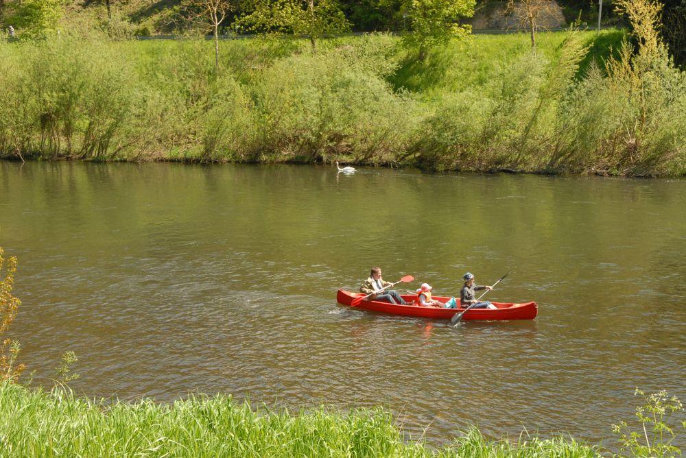 en canoe dans la vallee de la moselle 01