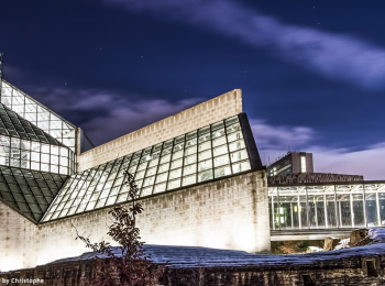 mudam by night luxembourg photography