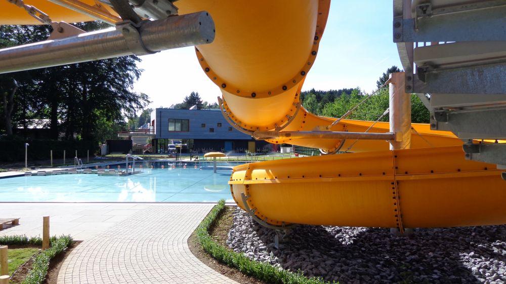 Open air swimming pool toboggan, Troisvierges