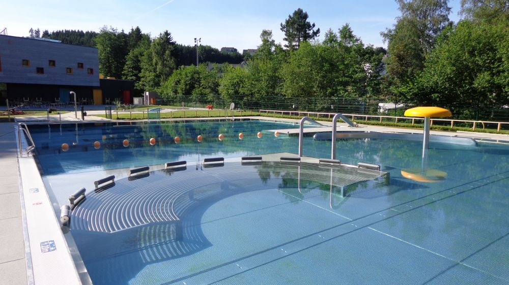 Open-air swimming pool, Troisvierges Luxembourg