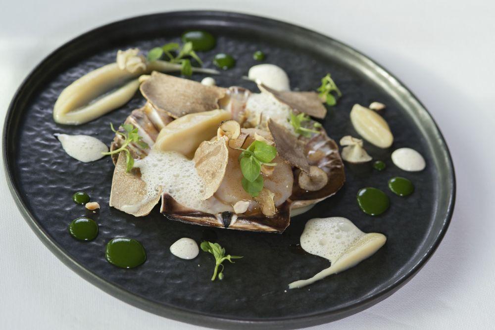 noix de st jacques la crsitallerie restaurant gastronomique hotel le place d armes luxembourg 2