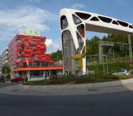 youth hostel esch with the passerelle to galgenberg