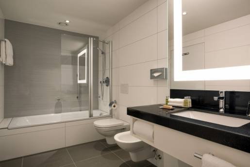 deluxe suite with kitchenette bathroom