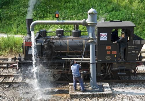 historische dampfeisenbahn train 1900 02