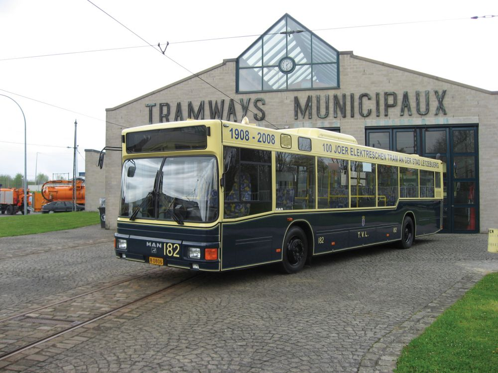 tram and bus museum luxembourg city outside