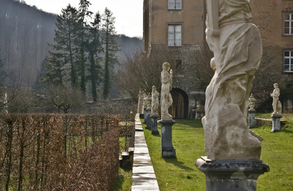 Chateau Ansembourg sculptures