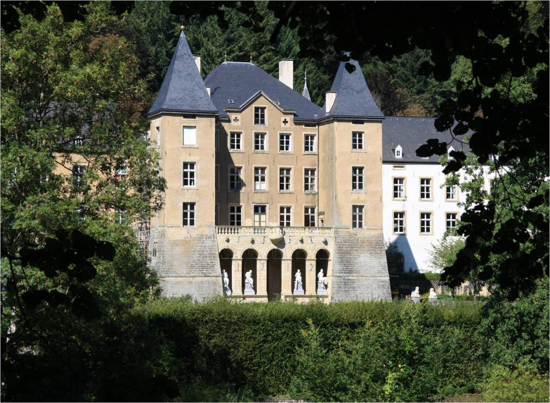 Ansembourg castle outside