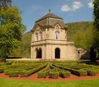 stadspark met de tuinen van de abdij van echternach