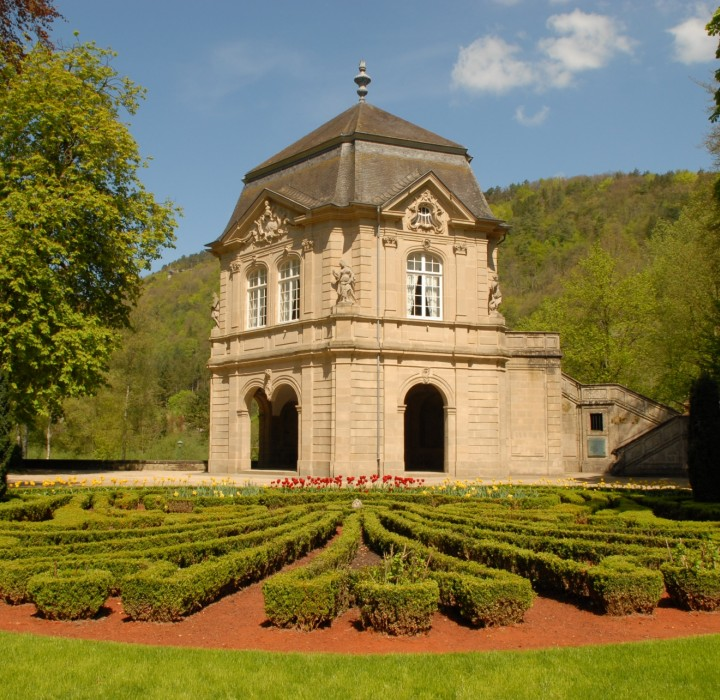 municipal park with the gardens of echternach abbey