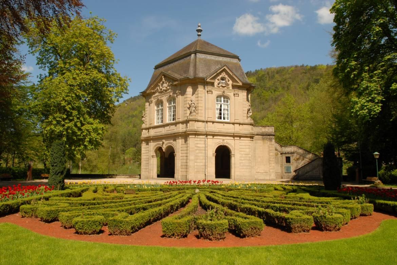 municipal park with the gardens of echternach abbey